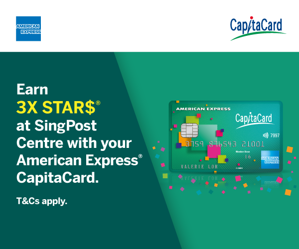Earn 3X STAR$ with your American Express CapitaCard