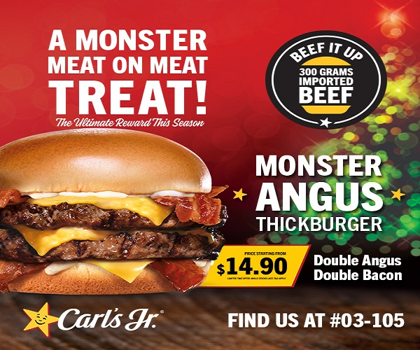 Carl's Jr Monster Angus Thickburger
