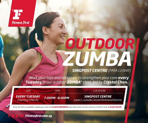 Outdoor Zumba at SingPost Centre