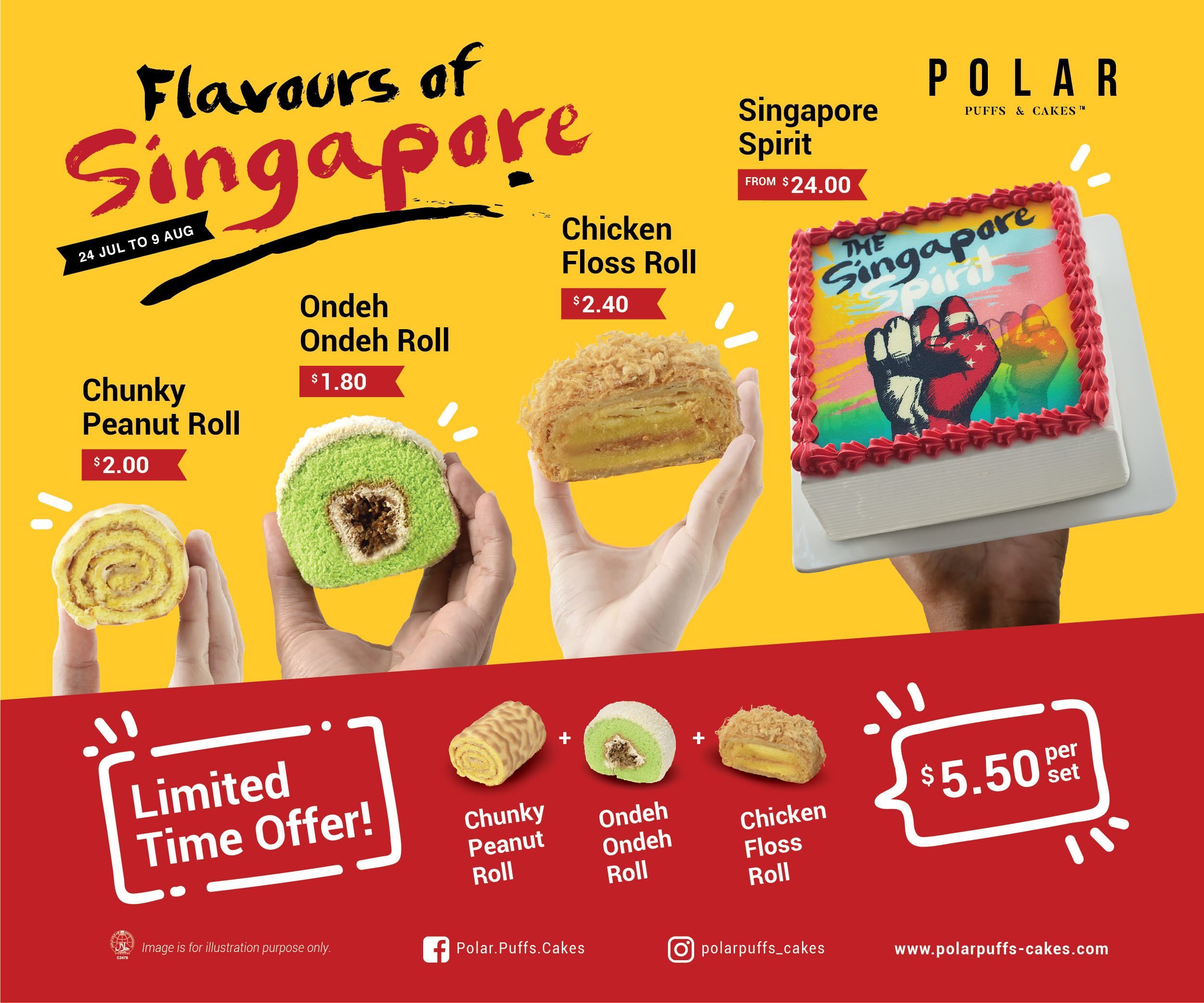 Polar Puffs & Cakes - Flavours of Singapore