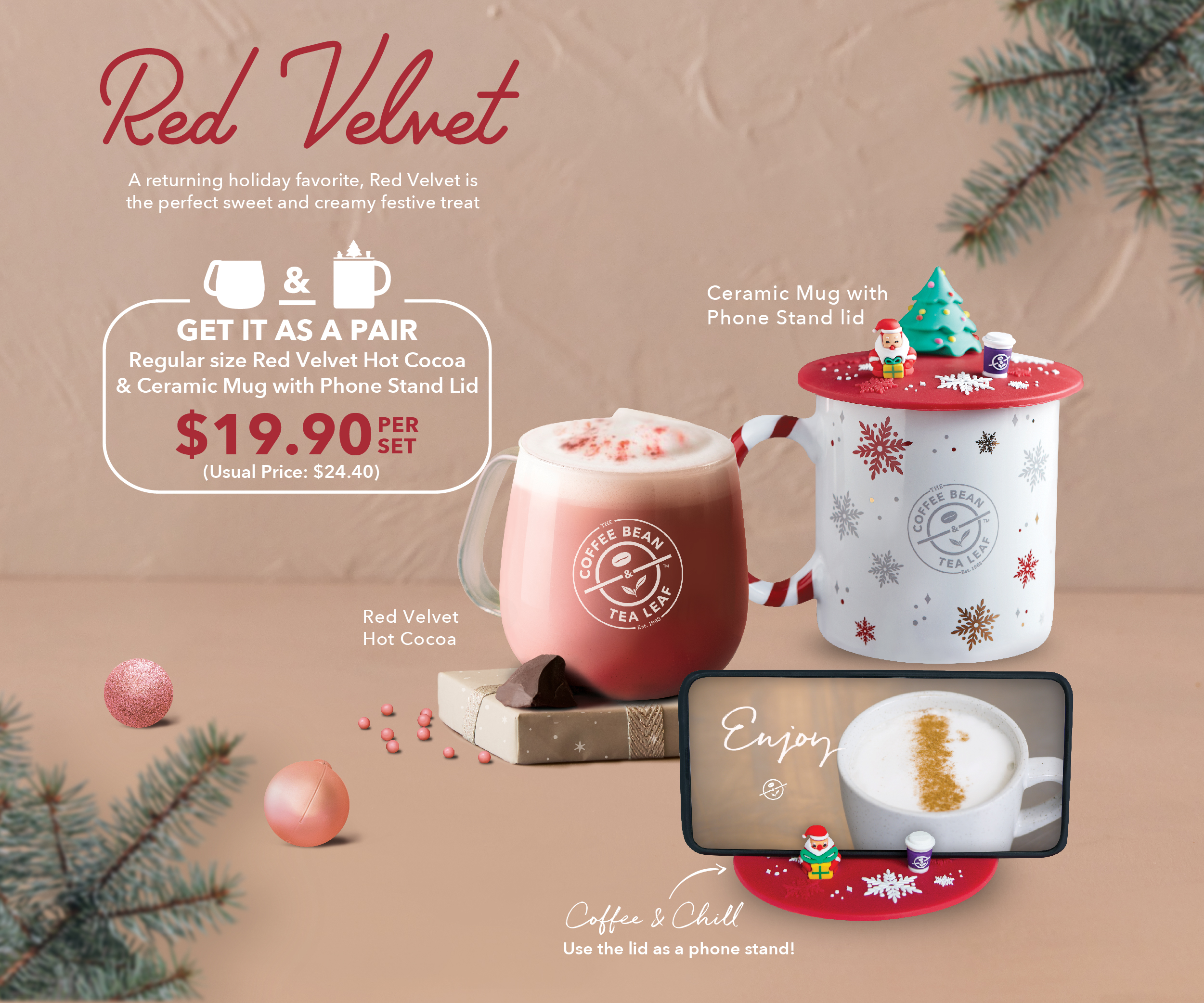 CoffeeBeanSG Limited Time Bundle - Red Velvet and Ceramic